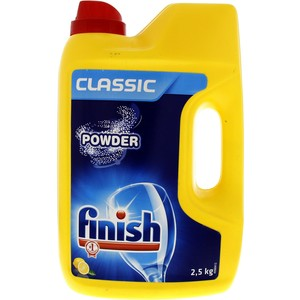 Finish Classic Dish Wash Powder Lemon 2.5kg