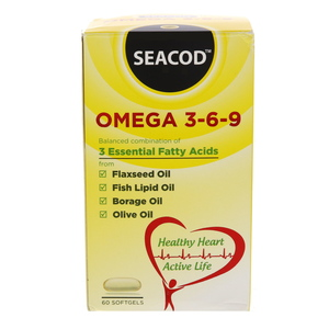 Seacod Omega 3-6-9 Softgels 60Pcs