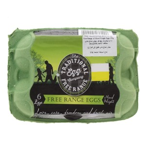 The Traditional Egg Company Free Range Eggs, Mixed Weight 6pcs