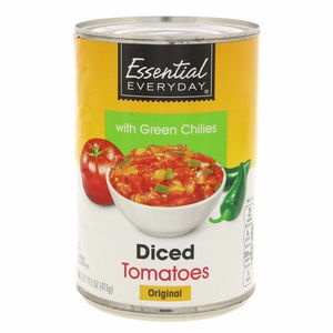 Essential Everyday Diced Tomatoes With Green Chilies 411g