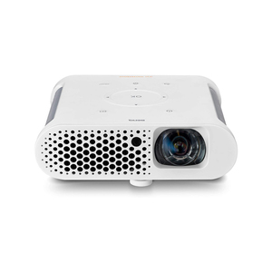 "BenQ GS1 Portable Projector,Cable Free, Splash Proof, 60"" screen @1 metre, with battery, Short Throw, DLP, 720p, 100,000:1 High Contrast Ratio, HDMI,White"
