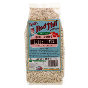 Bob's Red Mill Organic Quick Cooking Rolled Oats Whole Grain 453g