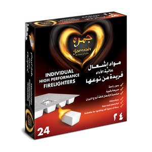 Jamrah Firelighters Cubes 24pcs