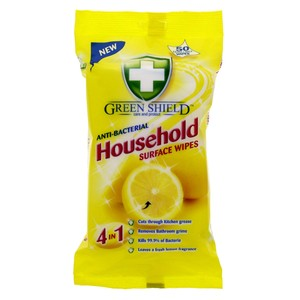 Green Shield Anti-Bacterial Household Surface Wipes 50pcs