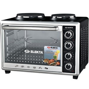 Elekta Electric Oven with  2 Hot Plate and Rotisserie EBRO-444HP(K) 43Ltr