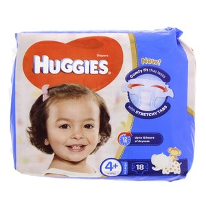 Huggies Diaper Size 4+ X-Large 9-20 Kg 18's