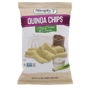 Simply 7 Quinoa Chips Sour Cream and Onion 99g