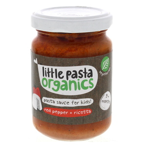 Little Pasta Organics Pasta Sauce For Kids Red Pepper And Ricotta 130g