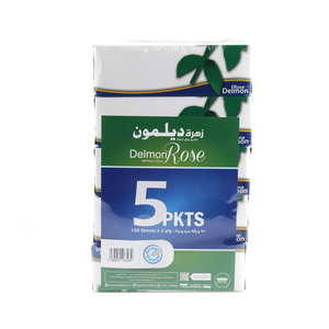 Delmon Facial Tissue Rose 5 x 150pcs