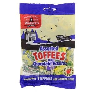 Walkers Assorted Toffees And Chocolate Eclairs 150g
