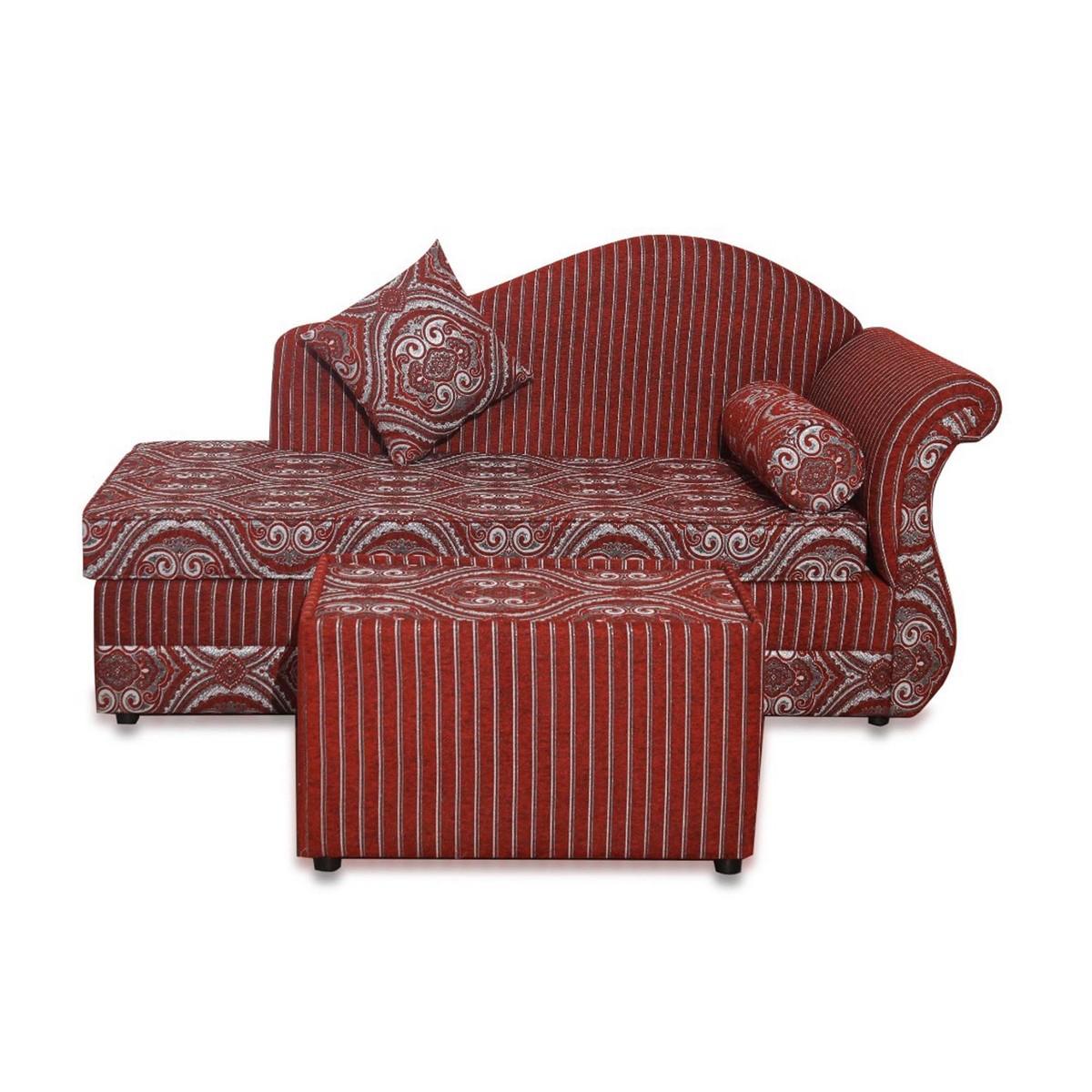 Design Plus Fabric Diwan Sofa Set Ml05 Red Online
