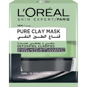 L'Oreal Paris Skin Care Pure Clay Black Mask Detoxifies & Clarifies 50ml