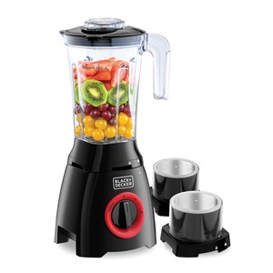 Black+Decker Blender with Grinder, Grater Mill, Extra Jar BL415-B5 400W