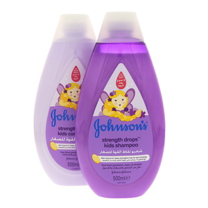Johnsons Strength Drops Kids Shampoo 500ml + Conditioner 500ml