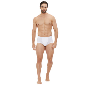 BYC Men's Brief  White 111MB-1201 Large
