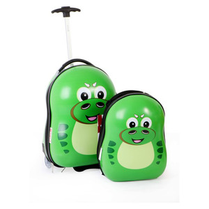 Wagon R Green Dragon Kids Luggage + Backpack EK05