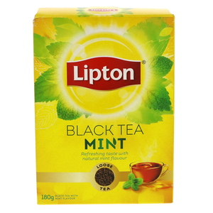 Lipton Loose Black Tea With Mint Flavour 180g