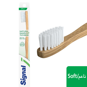 Signal Natural Bamboo Tooth Brush Soft 1pc