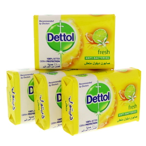 Dettol Anti-Bacterial Soap Fresh 4 x 120g