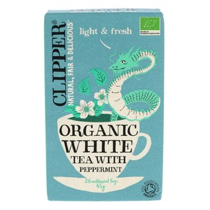 Clipper Organic White Tea With Peppermint 26pcs