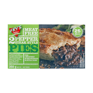 Fry's Family Meat Free 2 Pepper Steak Style Pies 350g