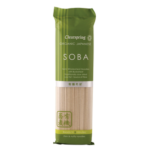 Clearspring Organic Japanese Soba Semi Whole wheat Noodles With Buckwheat 200g
