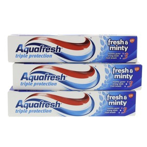 Aquafresh Triple Protection Fresh And Minty Tooth Paste 3 x 125ml