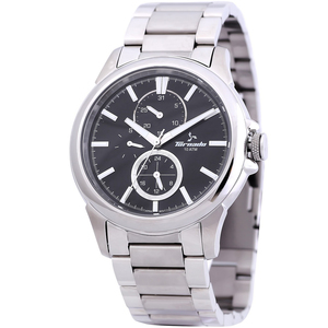 Tornado Men's Multi-Function Watch Black Dial Stainless Steel  Band T6107-SBSB
