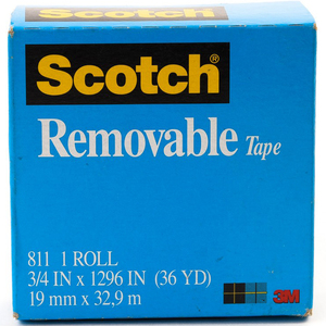3M Scotch Magic Tape Boxed Removable 3/4in x 36yards 1Pc