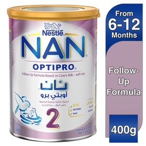 Nestle Nan Optipro Stage 2 From 6 to 12 Months Follow-Up Formula With Iron 400g