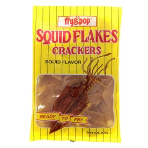 Fry & Pop Squid Flakes Crackers 200g