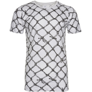 De Backers Men's Printed Round-Neck T-Shirt white