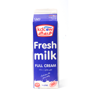 Kdcow Fresh Milk Full Cream 1Litre