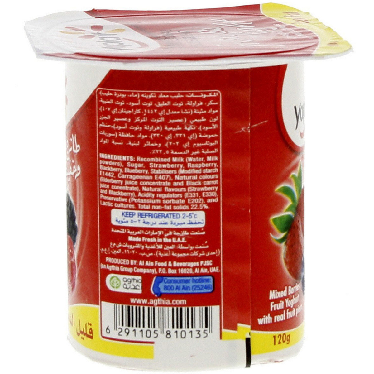 Mixed Berries Fruit Yoghurt Low Fat