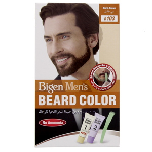 Bigen Men's Beard Color Dark Brown B 103