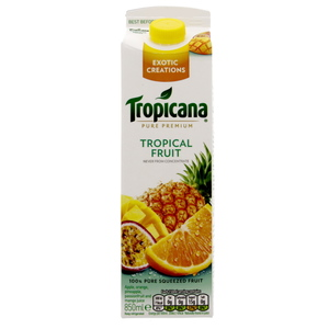 Tropicana 100% Pure Squeezed Tropical Fruit  Juice 850ml