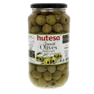 Hutesa Spanish Green Olives Pitted 400g