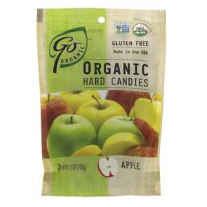 Go Organic Hard Candies with Apple flavor 100g
