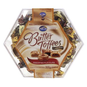 Arcor Butter Toffees Assorted Flavours 300g