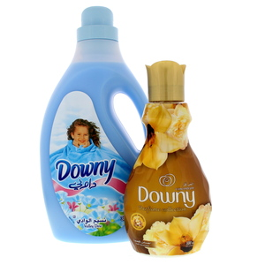 Downy Valley Dew Fabric Softener 3Litre + Feel Luxurious Concentrate 880ml