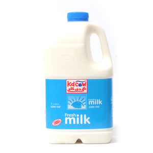 Kdcow Fresh Milk Low Fat 2Litre