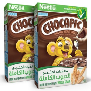 Nestle Chocapic Chocolate Breakfast Cereal 375g x 2