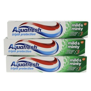 Aquafresh Triple Protection Mild And Minty Tooth Paste 3 x 125ml