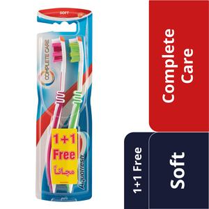 Aquafresh Complete Care Toothbrush Soft Assorted Color 2pcs