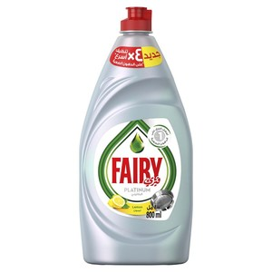 Fairy Platinum Dishwashing Liquid Lemon 800ml