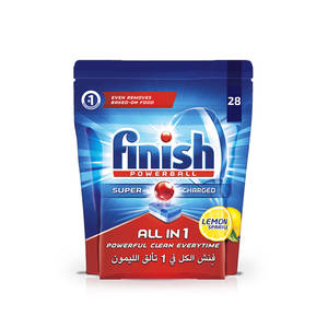 Finish Dishwasher Detergent  Tabs Lemon 28Tabs 456g