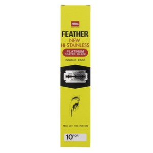 Feather Hi Stainless Blades Double Edge 10pcs