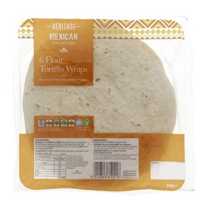 Heritage Mexican Tortilla Wraps 6Pcs
