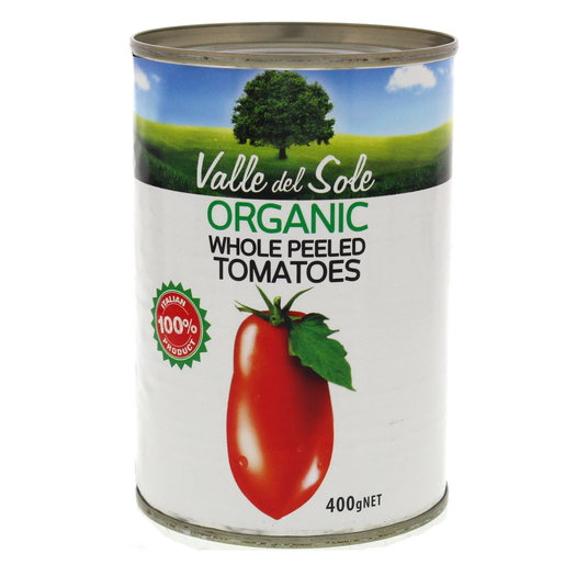Valle Del Sole Organic Whole Peeled Tomatoes 400g