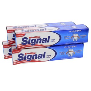 Signal Toothpaste Cavity Fighter 120ml x 4pcs